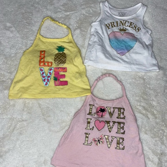 The Children's Place Baby Girl Tops Bundle